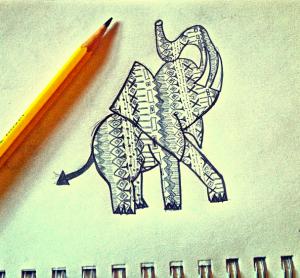 Cassandra Hartman's elephant rendition